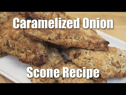 Savory Caramelized Onion Scones - Recipe