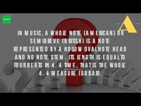 What Are Semibreve In Music?