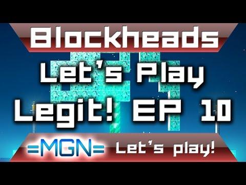 Blockheads 1.6, let's play legit! (EP 10) I FOUND DIAMONDS!!!