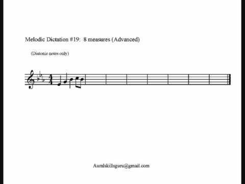 Melodic Dictation #19:  Diatonic (Advanced)
