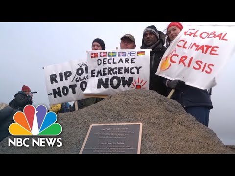Icelandic Activists Reflect On Climate Change At Funeral For Glacier | NBC News