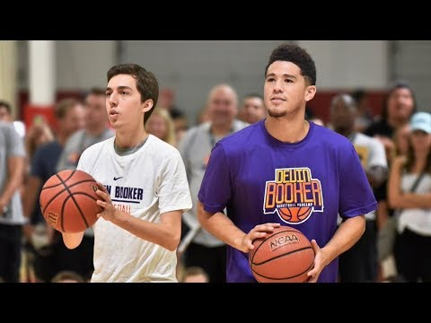 Devin Booker Challenged Me to Make This Shot...and this happened