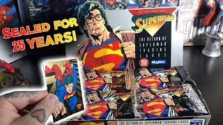 Opening A SEALED Box of Superman Trading Cards from 1993!