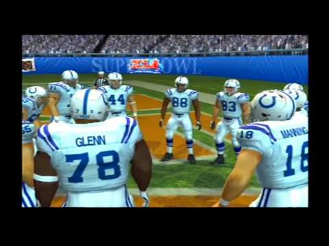 Indianapolis Colts vs Chicago Bears Pretend Super Bowl 41 Madden NFL 2007