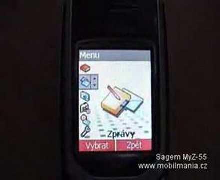 Sagem MyZ55 (Menus)