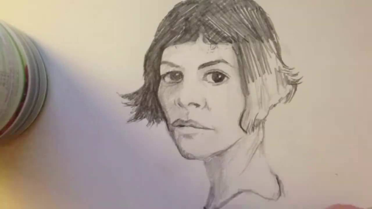 Drawing Amelie Poulain Youtube