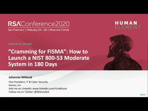 """""""cramming-for-fisma"""":-how-to-launch-a-nist-800-53-moderate-system-in-180-days"""