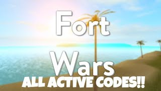 ALL ACTIVE CODES!! ⚔️Fort Wars (11/2/2018) ROBLOX