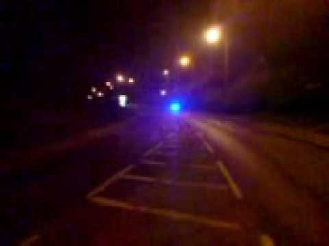 Police Bike Cycle At Night On Blue Light Run Youtube