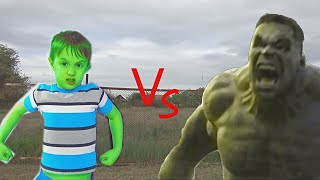 Hollywood Hulk vs real life Hulk banana transformation