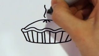 How to Draw a Cartoon Pumpkin Pie