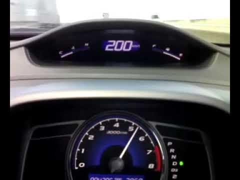 Test HONDA CIVIC 2009 max. 213 km/h