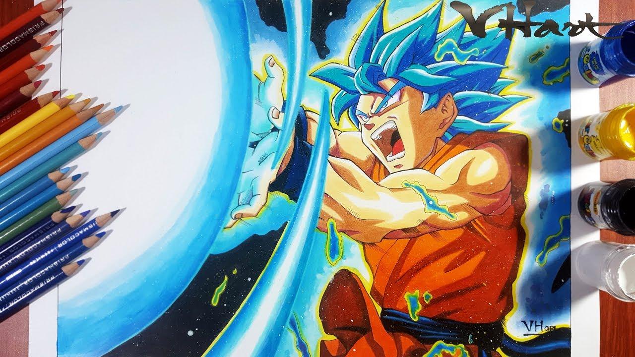 Goku Super Saiyan Blue Kamehameha | Dragonball Super | Vh ...