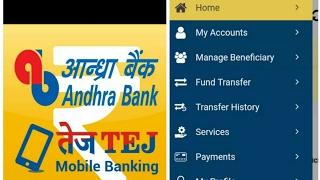 | |Her şeyi görünür|kadar AB TEJ mobil bankacılık uygulaması |Andhra bank| |işareti-