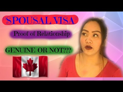 Spousal/Common Law Visa *PROOF OF RELATIONSHIP*