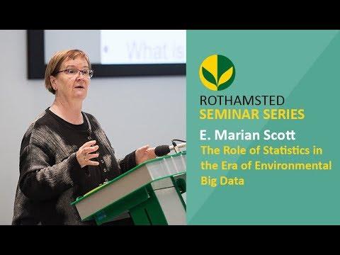 The Role of Statistics in the Era of Environmental Big Data - Professor E. Marian Scott