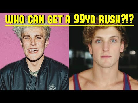 JAKE PAUL VS LOGAN PAUL! WHO CAN GET A 99YD RUSH FIRST?!? *THEY'RE ACTUALLY GOOD*