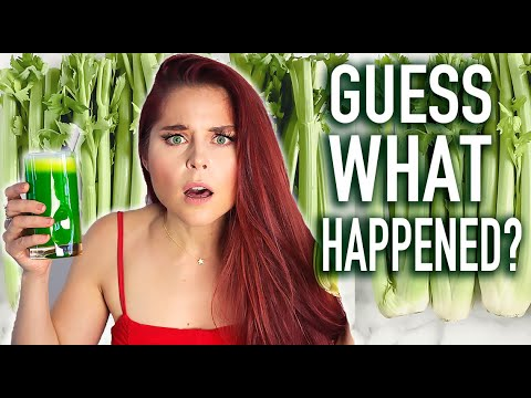 i drank celery juice for 7 days and here's what happened!