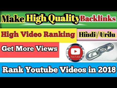 How To Create High Quality Backlinks Free For Youtube Videos In Only 5 Minutes 2018