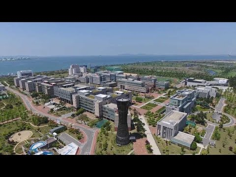 Incheon National University Campus Drone View (summer)