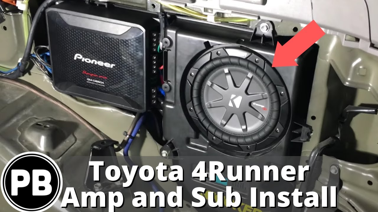 hight resolution of 2003 2009 toyota 4runner 4 channel amp and sub install provo beast audio installation