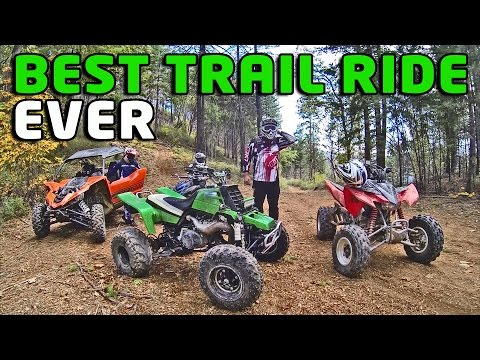 Banshee 350, Raptor 700 and YXZ 1000 R Best Trail Ride Adventure Ever Extended Cut