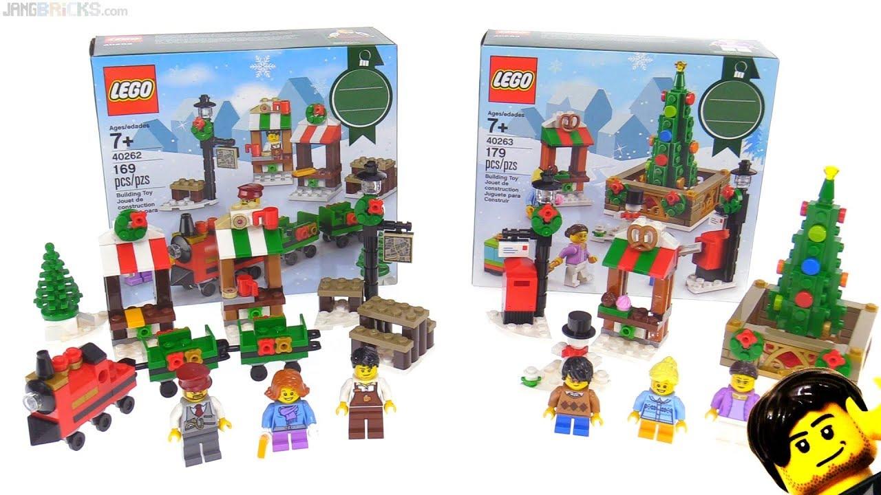 Lego Christmas.Lego Christmas Train Ride Town Square Mini Sets 40262 40263