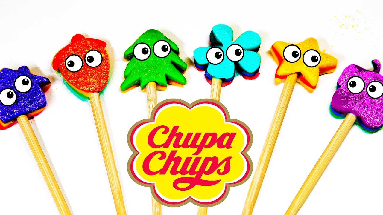 Lollipop Learn colors with candy Chupa Chups For kids Toddlers