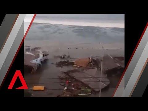 Tsunami hits Indonesian city of Palu