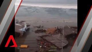 Video Tsunami hits Indonesian city of Palu download MP3, 3GP, MP4, WEBM, AVI, FLV November 2018