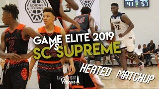 Game elite 2019 vs zion williamson | intense matchup in front of zion's hometown crowd