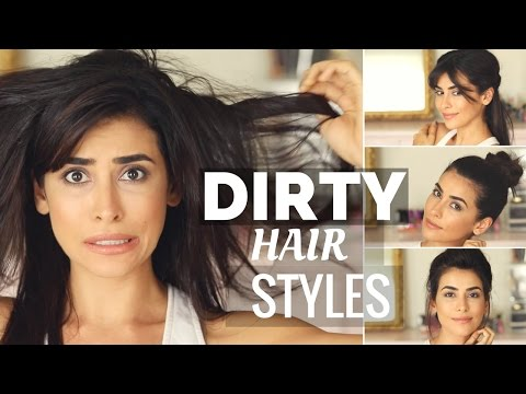 Tutorial: 4 EASY Hairstyles to SAVE DIRTY HAIR (ahhh!!)