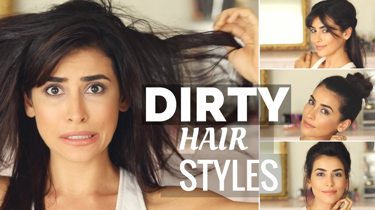 tutorial: 4 easy hairstyles to save dirty hair (ahhh!!) - youtube