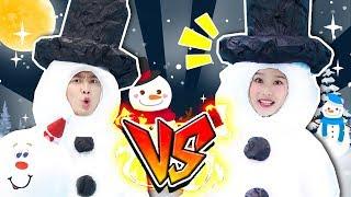 [강이 X 지니] 눈사람을 쓰러뜨려라!!  - 딩딩코딩TV