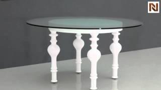 Nayri White Round Glass Dining Table  Vggu744rt From Vig Furniture