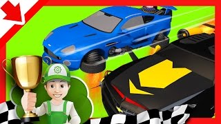 Cartoon for children. Handy Andy on Sports Car - Cars Race - Cars For Kids. little smart kids