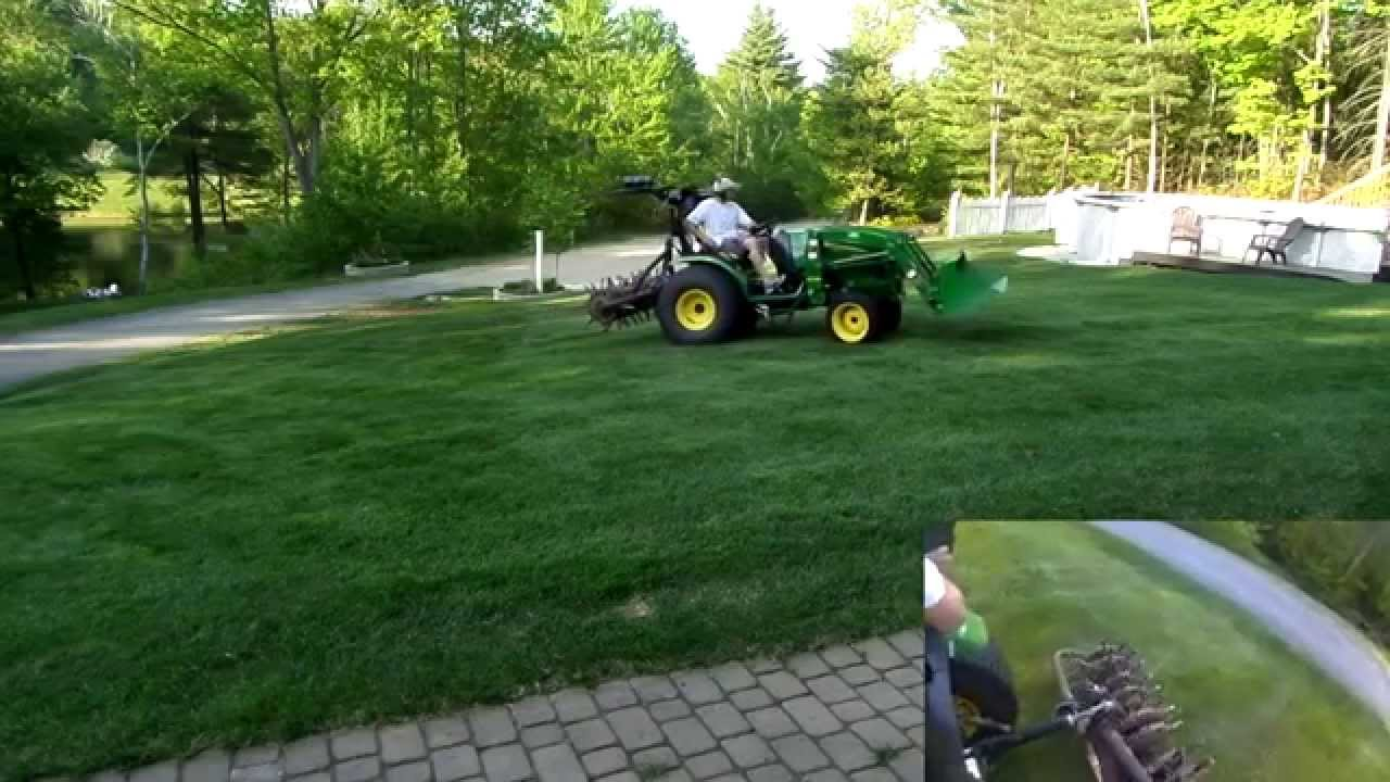 3 Point Hitch Lawn Aerator : Aerating lawn with john deere r and a quot ryan point