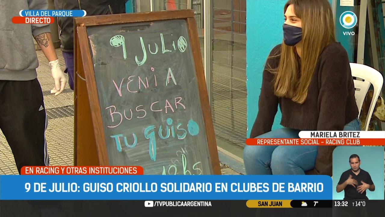 Guisos criollo con fines solidarios en sedes de clubes de fútbol