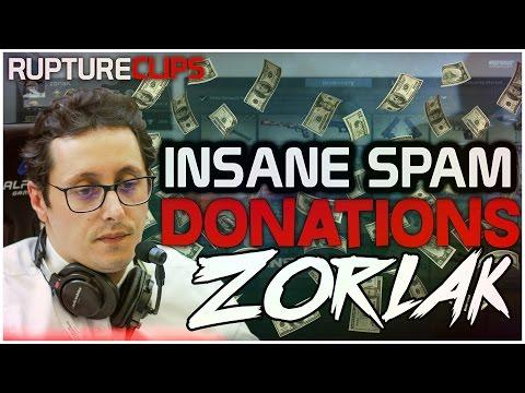 ZORLAK RECEBE SPAM DE DONATIONS INSANAS + 3000€