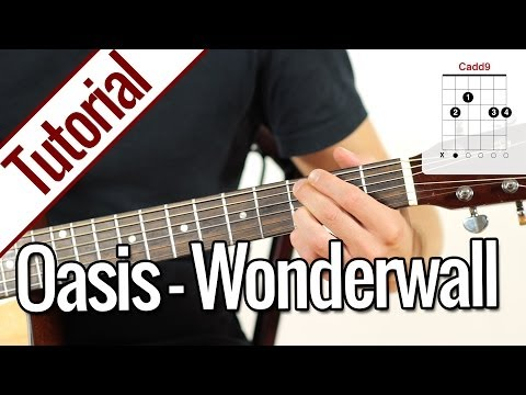 Oasis - Wonderwall | Gitarren Tutorial Deutsch