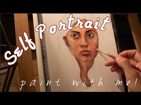 paint with me || self portrait timelapse
