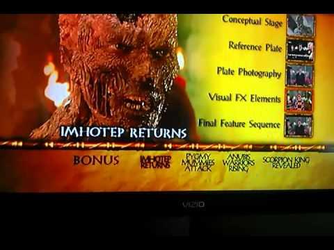 The Mummy Returns DVD Bonus Features
