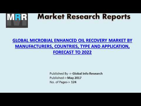 Microbial Enhanced Oil Recovery Market 2017 Global Analysis, Industry Growth and Forecast To 2022