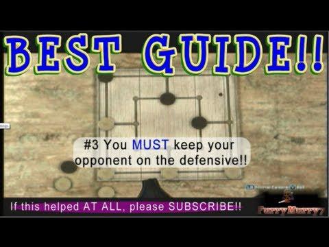 How To Win Six Men's Morris BEST TUTORIAL Walkthrough AC3 Assassin's Creed 3 FurryMurry7