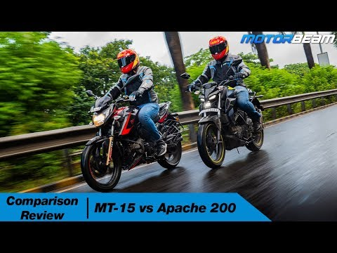 Yamaha MT-15 Vs TVS Apache 200 - Best Entry-Level Street-Fighter? | MotorBeam