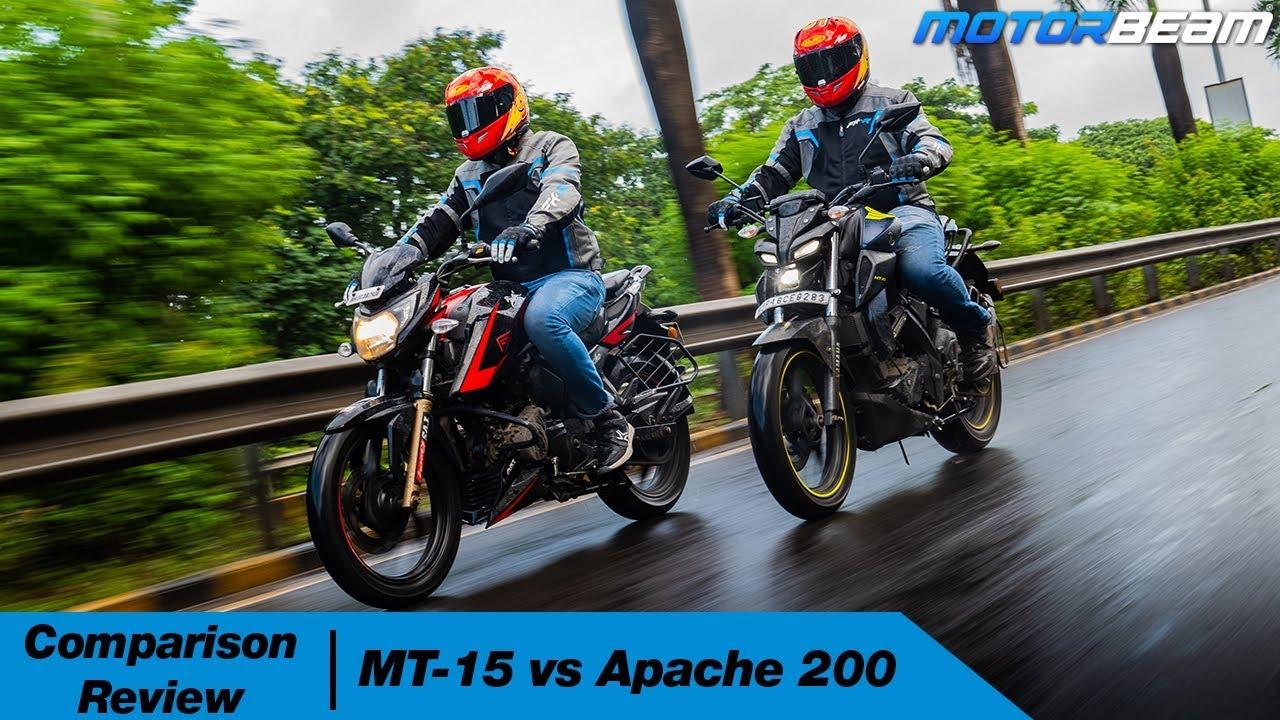 Download Yamaha MT-15 vs TVS Apache 200 - Best Entry-Level Street-Fighter? | MotorBeam
