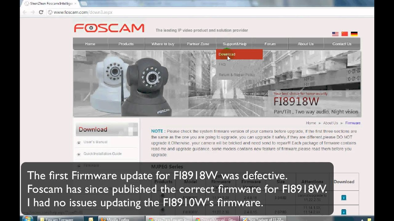 Bad Foscam FI8918W Firmware (HD)
