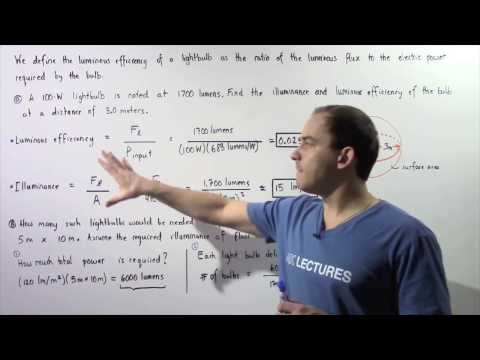 Luminous Efficiency and Illuminance Example