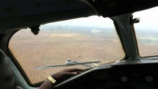 African Express DC-9-32 Landing at Wajir, Kenya - Window View