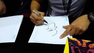 Francis Manapul quick sketches The Flash Wondercon 2014